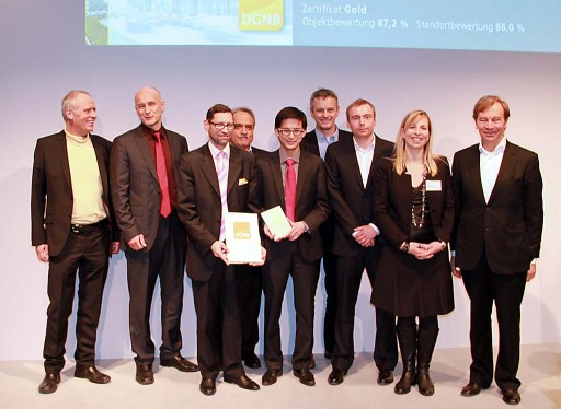 Verleihung des DGNB-Zertifikats am 20. Januar auf der BAU 2011